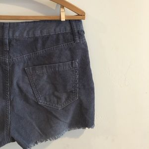 High-Rise Corduroy Cut-Offs